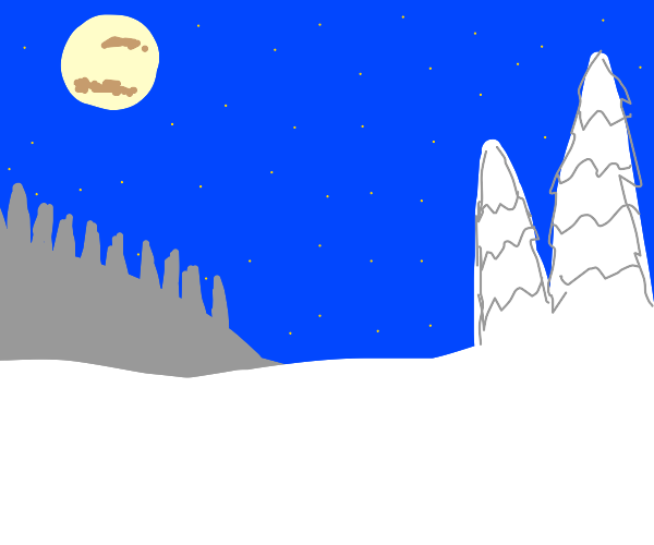 A bright winters night