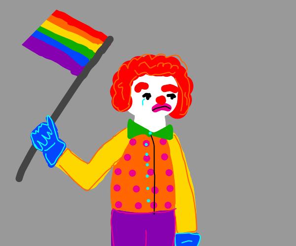 sad gay clown