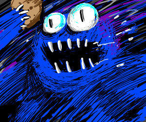 Cookie monster as an actual MONSTER