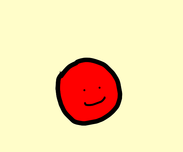 happy red ball