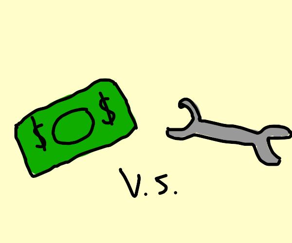 Money vs tools