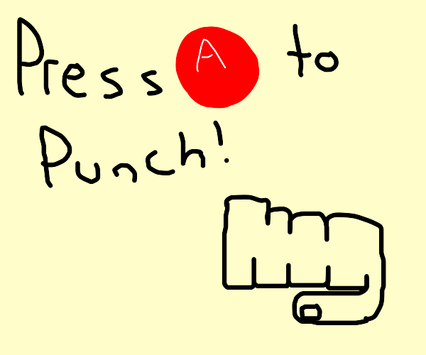 press a to punch