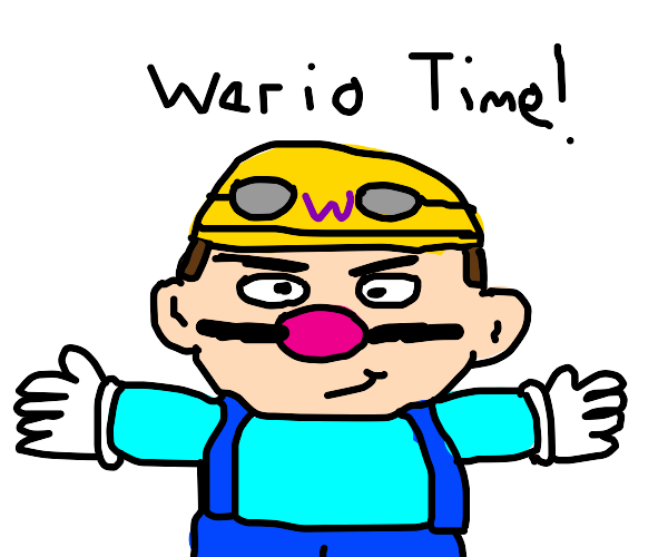 Wario in his SSB outfit