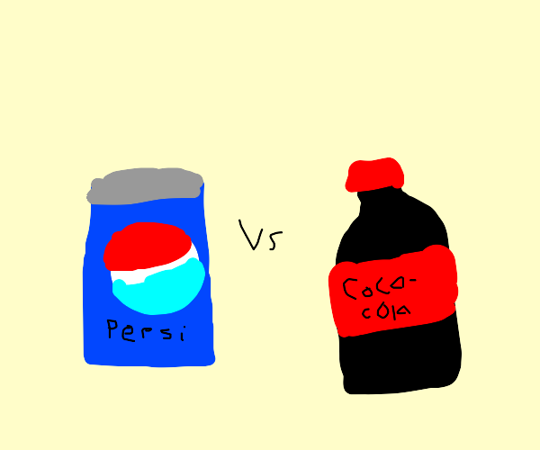 Pepsi can vs. Coke bottle