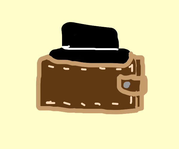 Wallet with hat