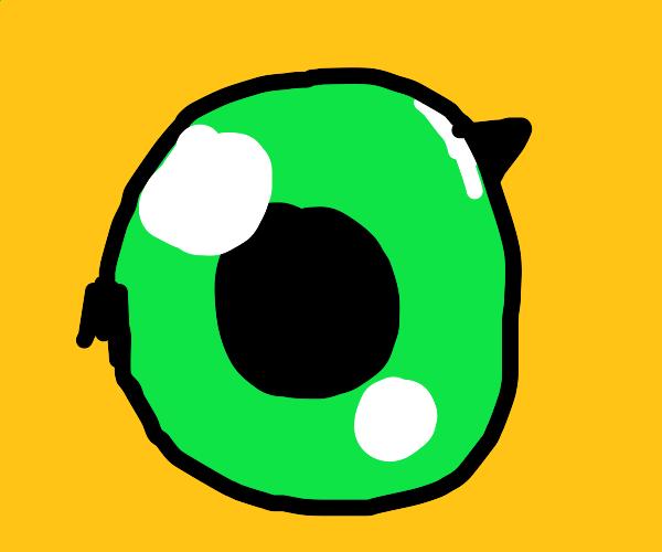 Close up of Agumon's eye