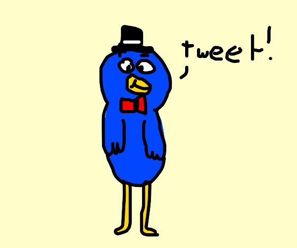 Fancy bird with top hat and bowtie