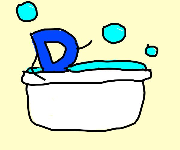 Drawception d has a bubble bath