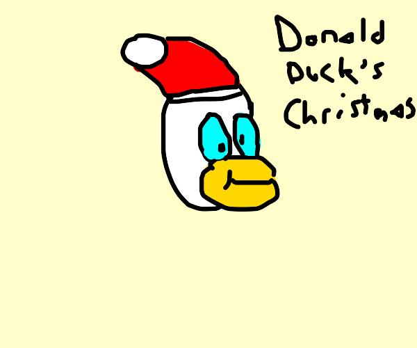 Christmas Donald duck