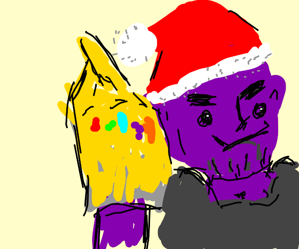 Santa Thanos is about to snap