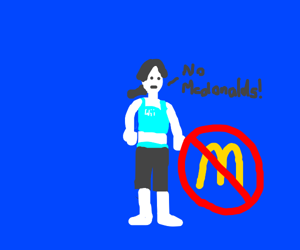 wii fit trainer says no mcdonalds