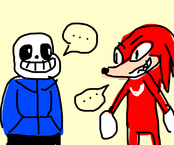 sans and knuckles talking
