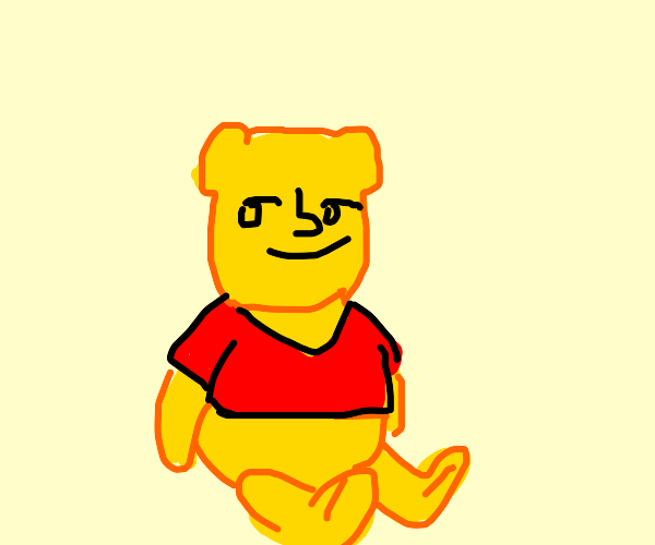 Pooh with Lenny face