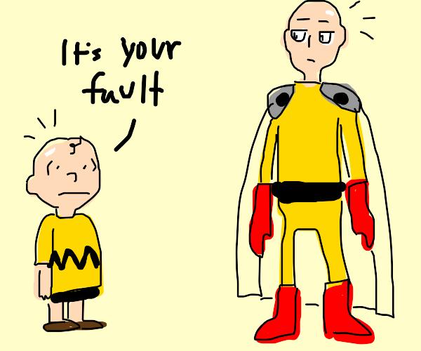 Charlie Brown blames baldness on onepunchman