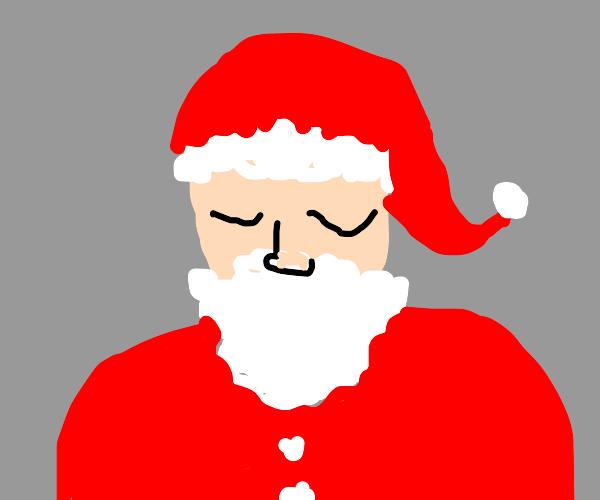 Santa blinking