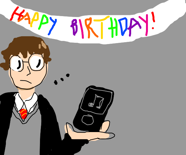 Harry Potter gets a zune for his birthday