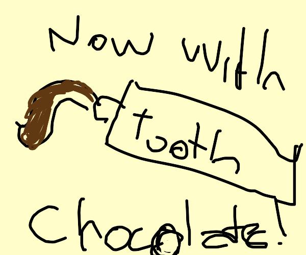 Chocolate toothpaste