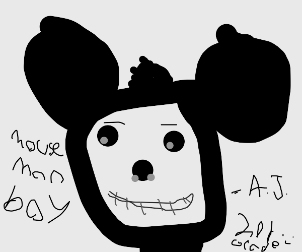 concept sketches of mickey mouse done by kid