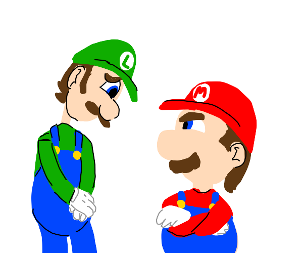 Luigi makes an excuse (He knows what he did)