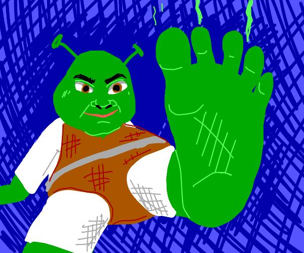 Sole of Shrek's foot