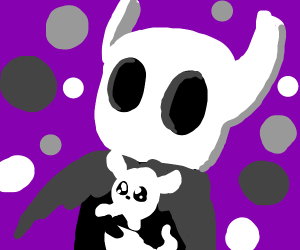 Hollow Knight and his pet Baba