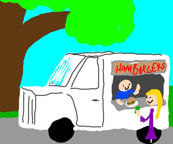 truck that sells hamburgers