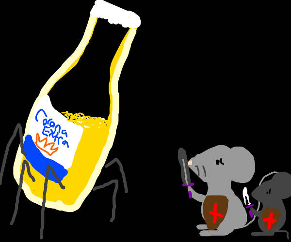 mice protecting themselves from the corona