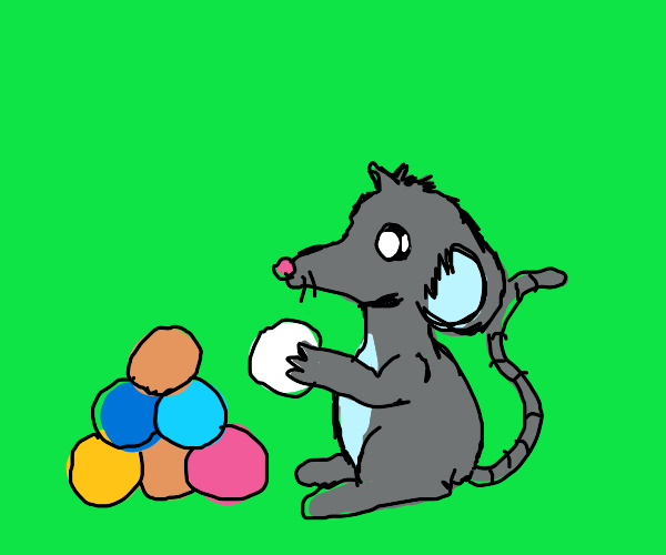 mouse stacking balls