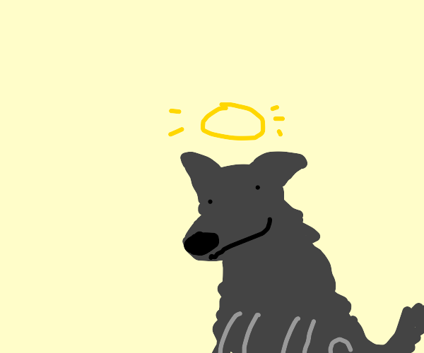 Wolf enjoying the afterlife