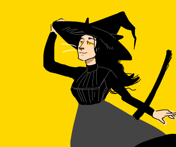 cat girl with witch hat