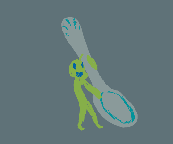 comically large spoon