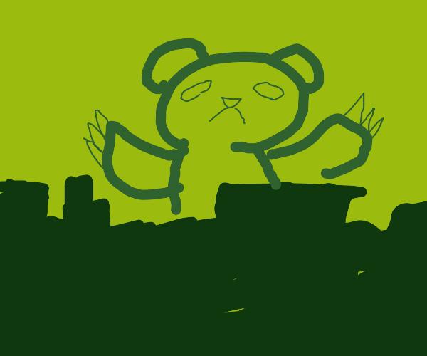 godzilla-sized bear destroys city