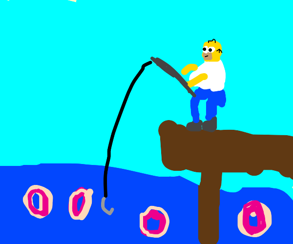fishing for donuts