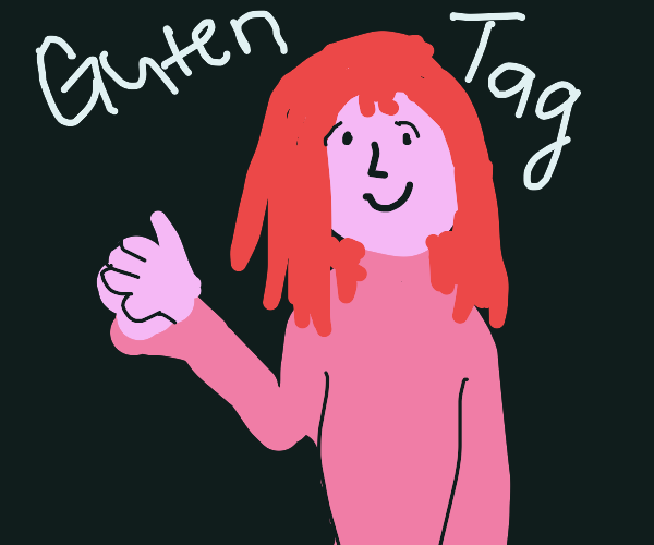 German girl greeting you