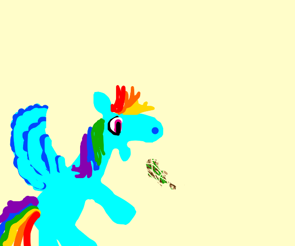Rainbow Dash throws up
