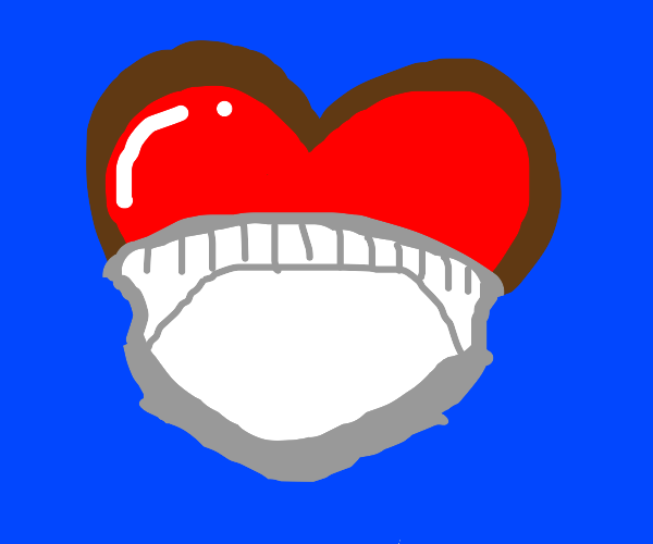 Heart with diapers