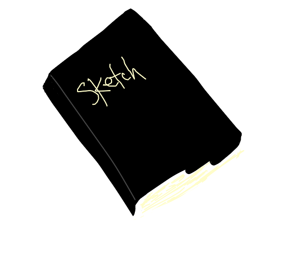 Sketch book with a black cover