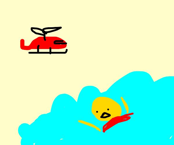 Lego Man drowning!