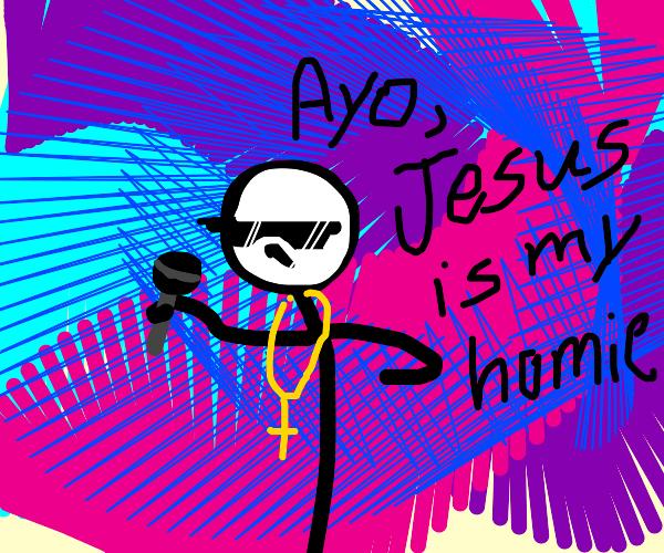 Cringey Christian Rapper