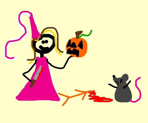 Princess cut pumpkins head off to impress rat