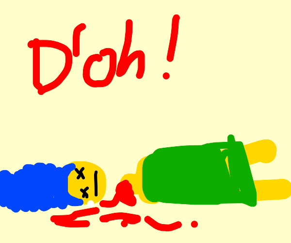 d'oh! marge got decapitated