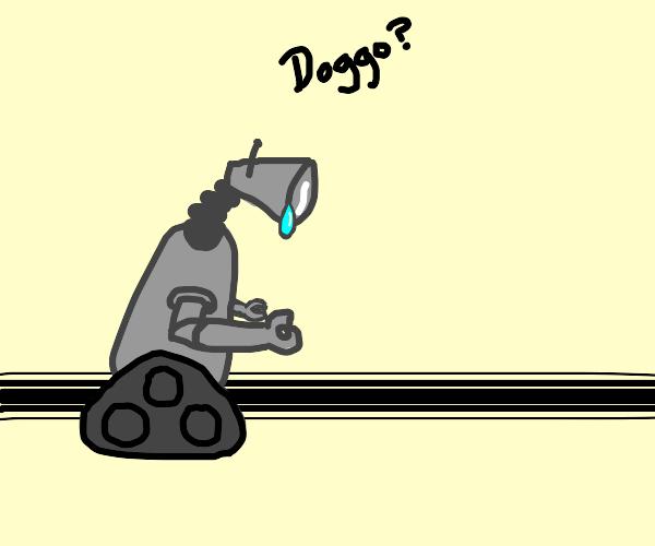 Depressed robot looks for doggo