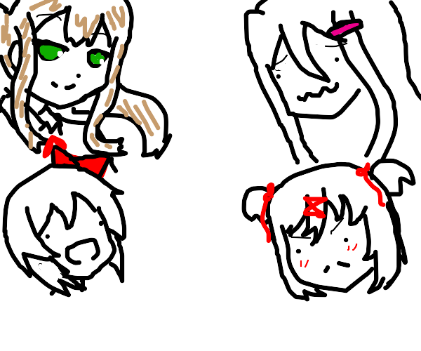 all 4 of the ddlc girls