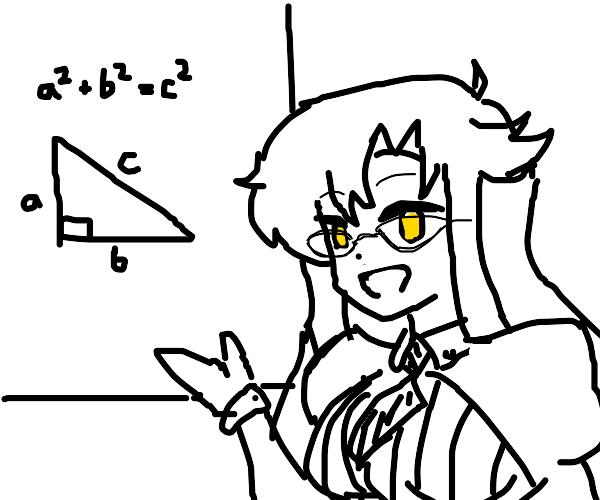 Well-endowed geometry teacher