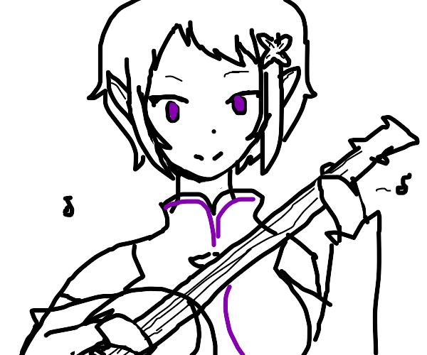 Elf plays banjo