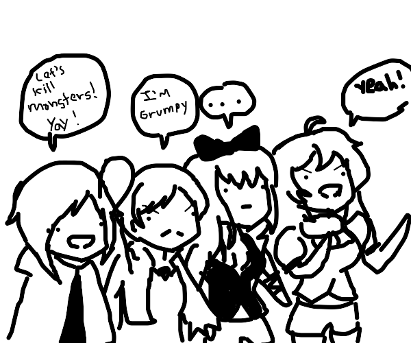 Rwby in one drawing
