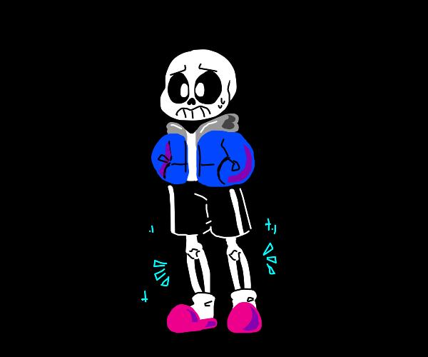 Sans with longe legges