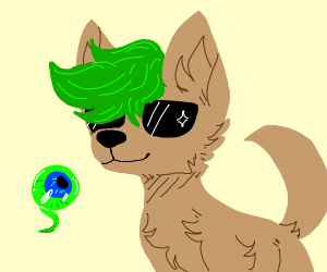 Cool JackSepticEye Wolf With Sunglasses