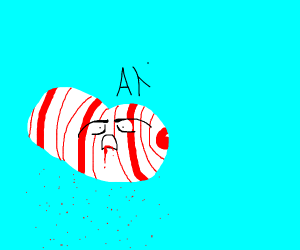 candy cane cloud vocalises in pain