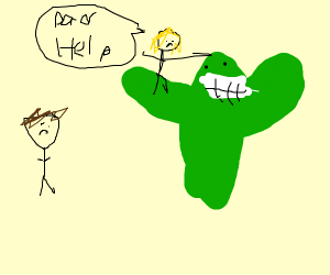 Cactus stealing daughter from father